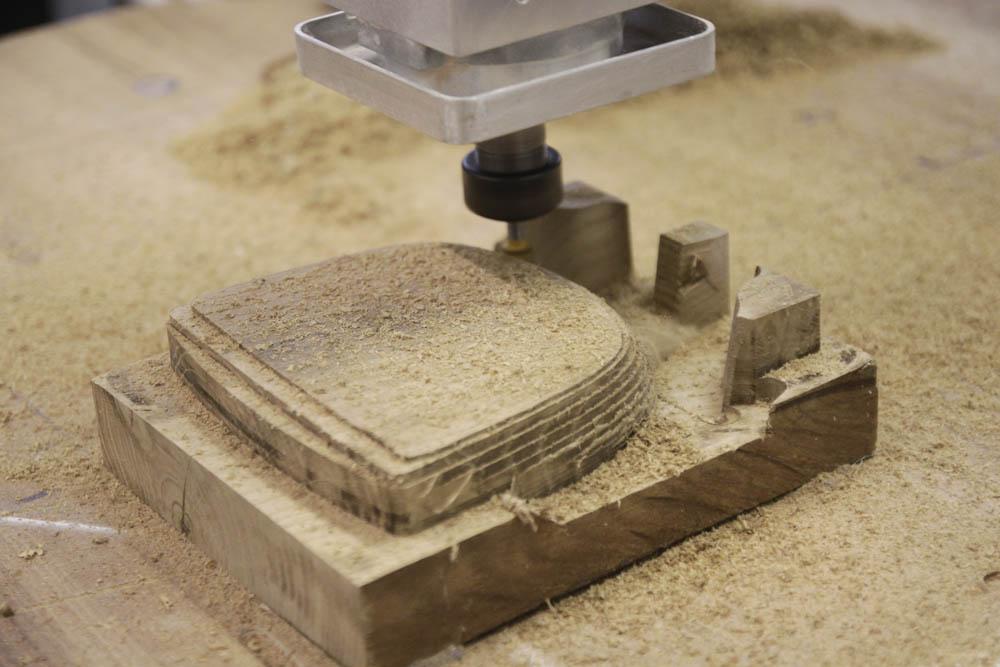 3D fréza - frézování dřeva