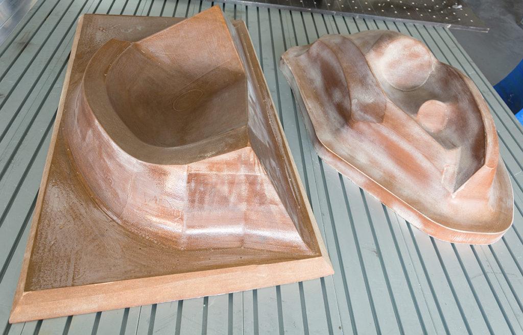 Formy připravené pro vykuové tvarování termoplastu